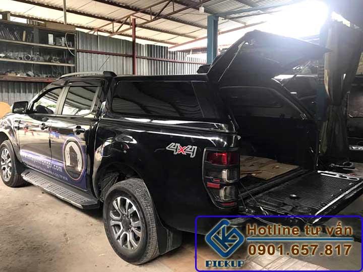 Nắp cao Ford Ranger màu đen