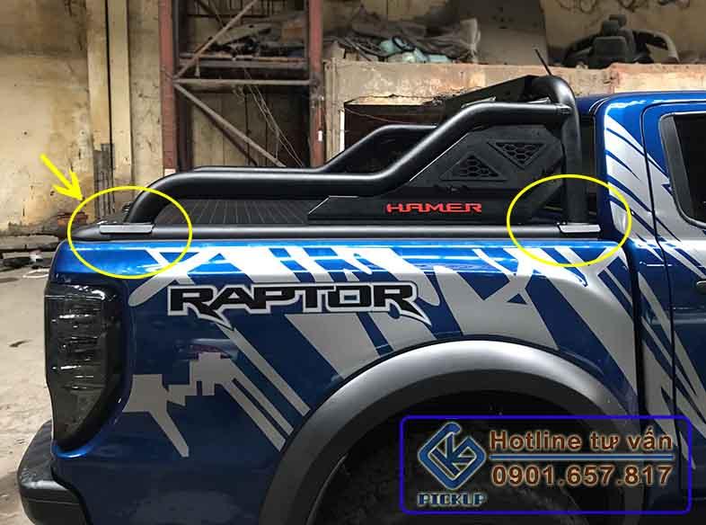 Nắp thùng cuộn Ranger Raptor Khung Hamer